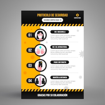 Coronavirus prevention with infographic design