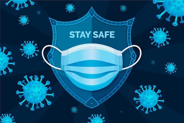 Фон защиты от коронавируса