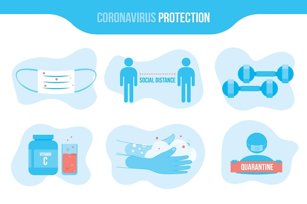 Coronavirus protection infographic