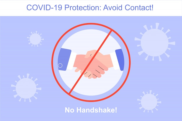 Coronavirus protection no handshake