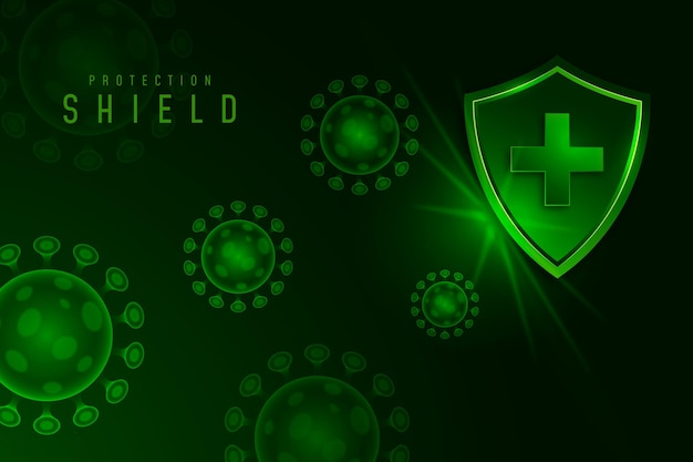 Coronavirus protection shield background