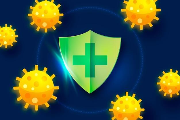 Coronavirus protection shield background