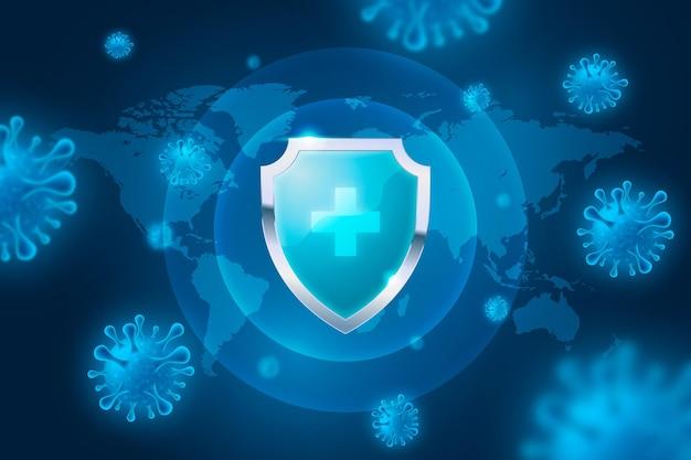 Фон щита защиты от коронавируса