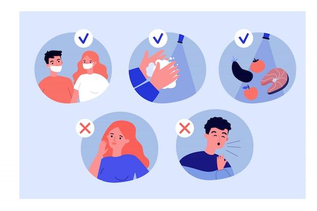 コロナウイルス保護のヒント