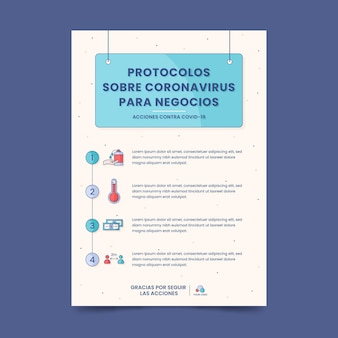 Coronavirus protocols for business poster
