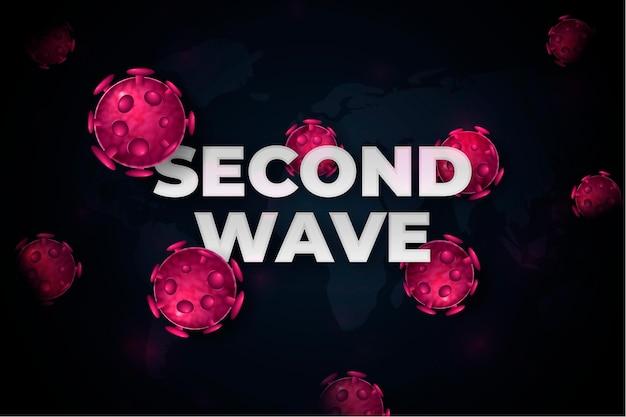 Coronavirus second wave background design