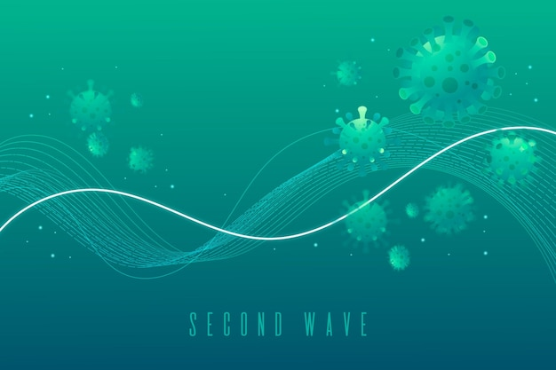 Coronavirus second wave concept background