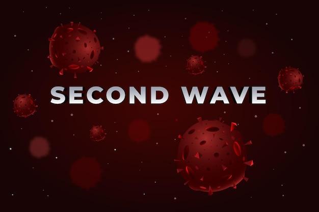 Sfondo della seconda ondata di coronavirus