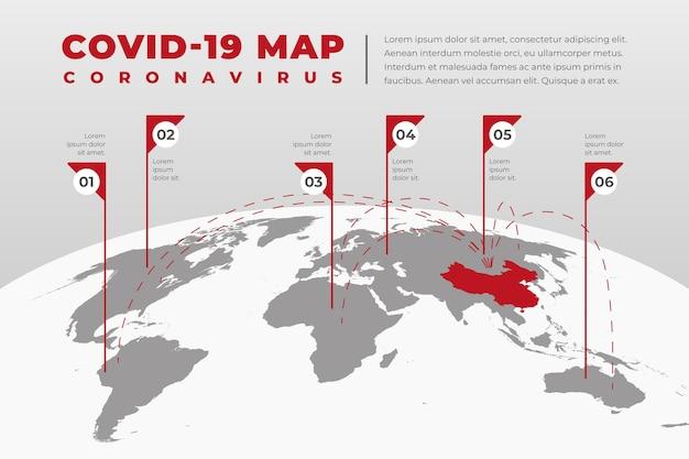 Mappa di diffusione del coronavirus