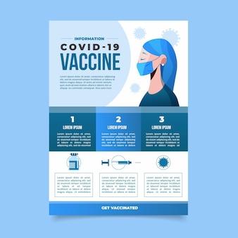 Volantino design piatto per la vaccinazione contro il coronavirus