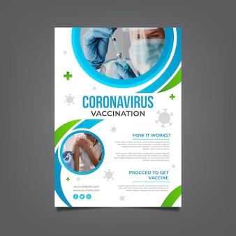 コロナウイルスワクチン接種チラシテンプレート
