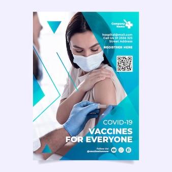 Volantino di vaccinazione contro il coronavirus