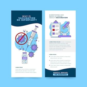 Modello di brochure informativo sulla vaccinazione contro il coronavirus