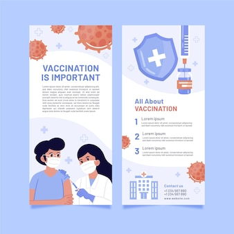 コロナウイルスワクチン接種の有益なパンフレット