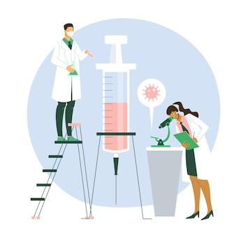 코로나 바이러스 백신 개발 개념
