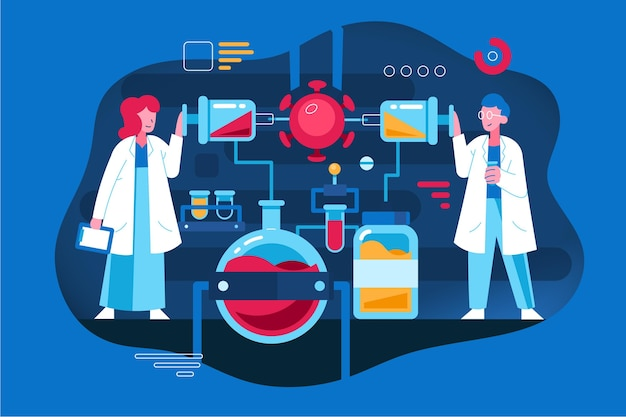 Sviluppo del vaccino contro il coronavirus con i ricercatori