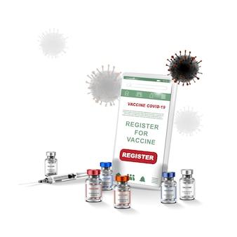 コロナウイルスワクチン 免疫治療 covid 19用のワクチンボトルと注射器注射ツール