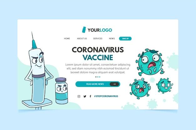 Coronavirus vaccine landing page