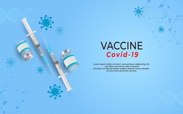 Вакцина против коронавируса вспышка пандемии covid19 здравоохранение и медицинская концепция