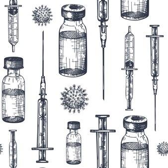 コロナウイルスワクチンのシームレスパターン