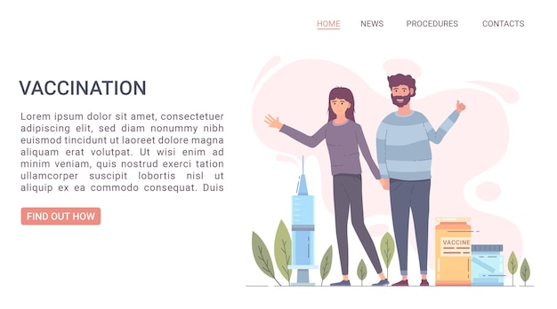 Coronavirus vaccine web template