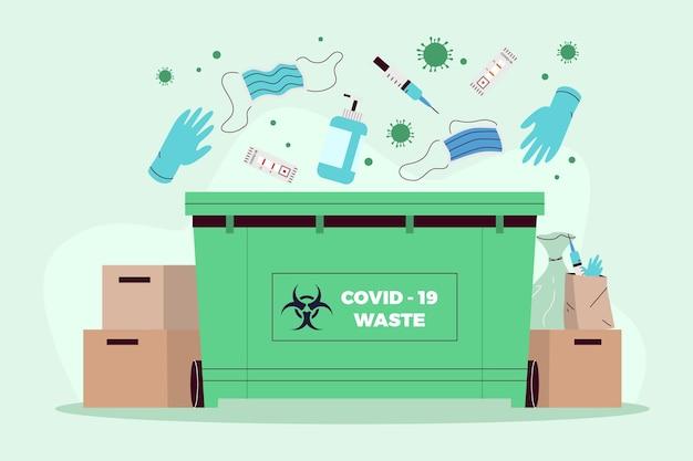 Rifiuti di coronavirus - sfondo