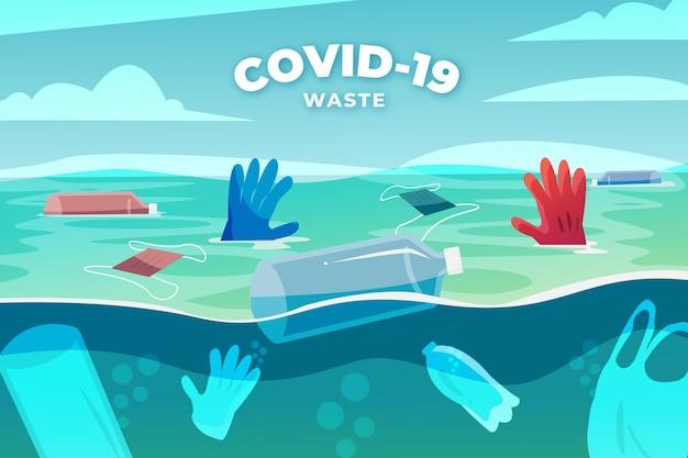 Coronavirus waste - background