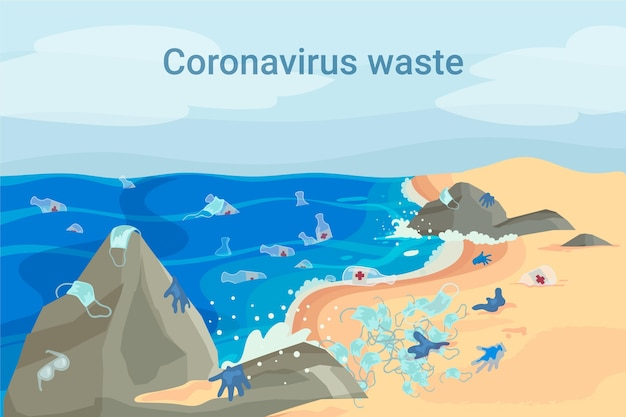 Coronavirus waster background