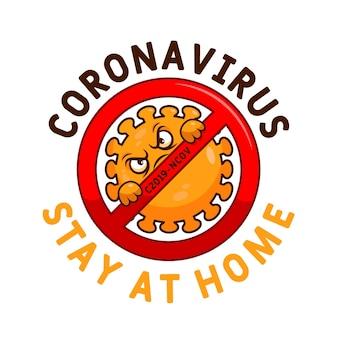 Стиль шаблона логотипа coronavirus