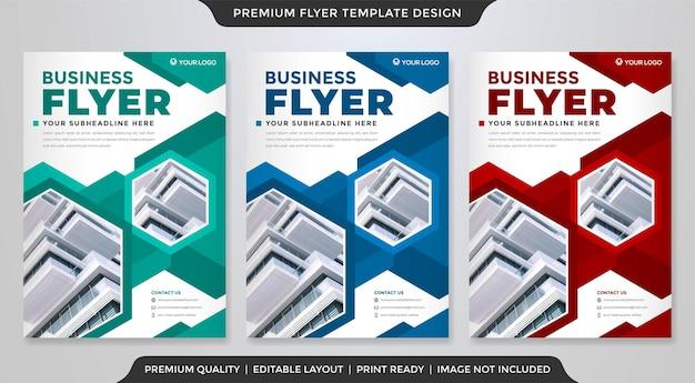 Corporat a4 flyer layout template premium vector
