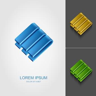Corporate 3d logo design template