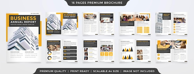 Corporate a4 bifold brochure template layout premium style