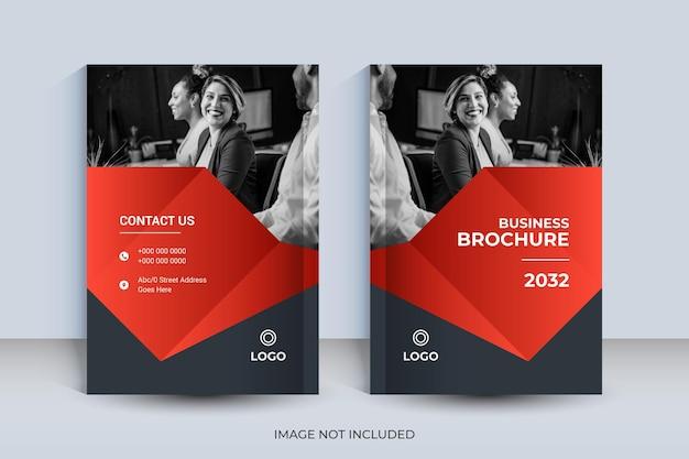 Корпоративный дизайн обложки книги формата а4 и шаблон годового отчета и журнала