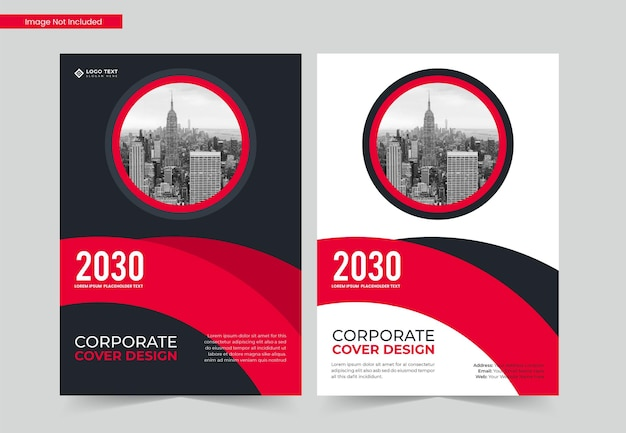 Corporate a4 book cover design and annual report and magazine template