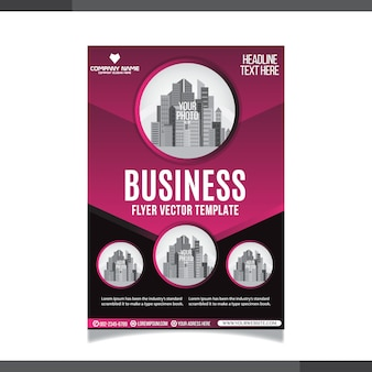 Corporate abstract business flayer template