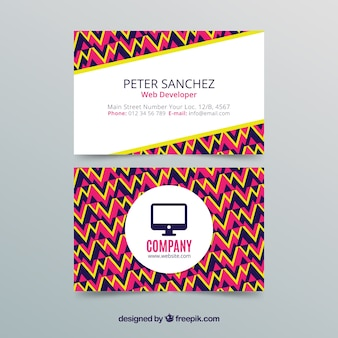 Corporate abstract card Free Vector