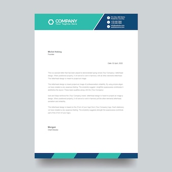Corporate abstract letterhead for business and personal purpose usages. easy to edit