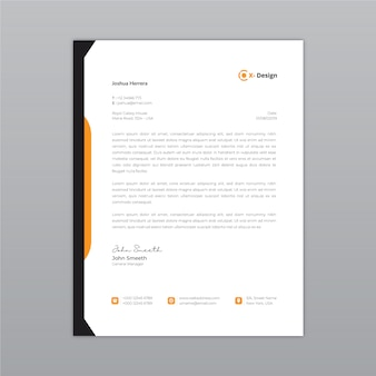 Corporate abstract letterhead