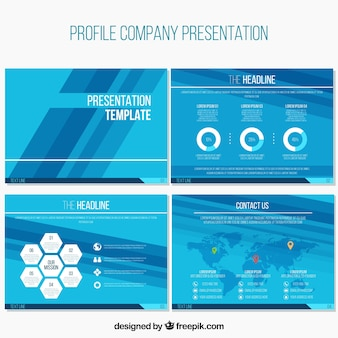 Corporate abstract presentations