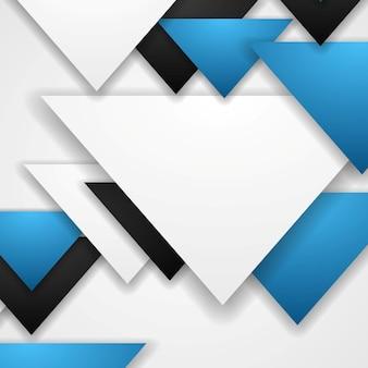 Корпоративный абстрактный технический фон треугольников. векторный дизайн