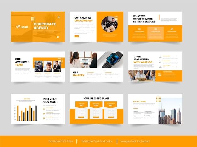 Corporate agency presentation design