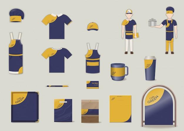 Набор элементов фирменного стиля и фирменного стиля