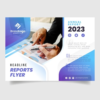 Corporate annual business report template