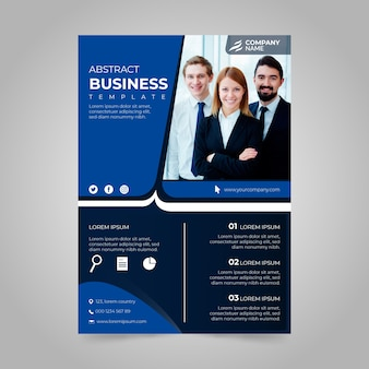 Corporate annual business report with photo