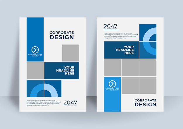Corporate annual report or book design template.