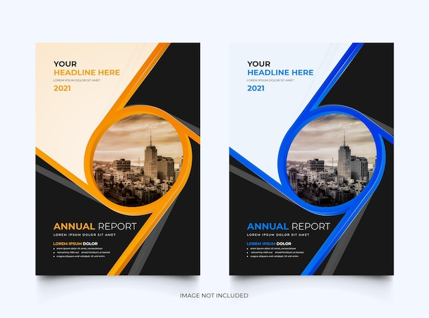 Corporate annual report business cover template set