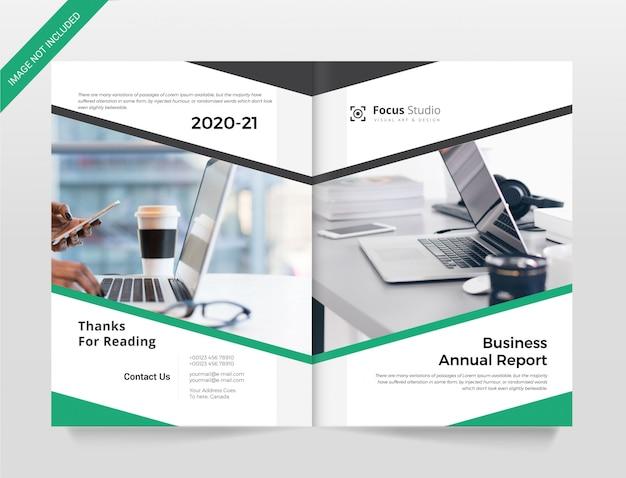 Corporate annual report cover brochure template