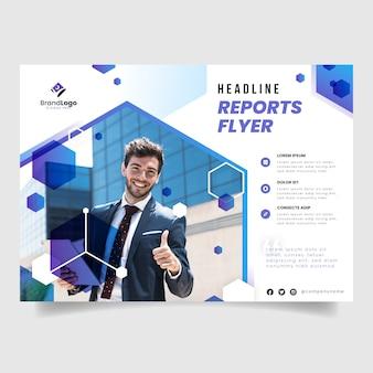 Corporate annual report magazine template