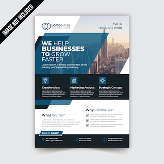 Corporate bi-fold brochure template design