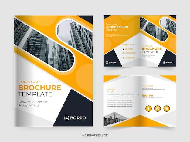 Шаблон корпоративной брошюры в два сложения